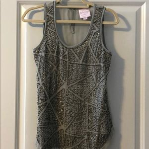 Romeo & Juliet silver beaded top size small